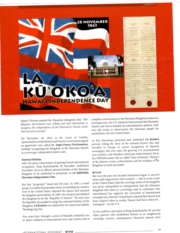 Hawaiian Kingdom Diplomat magazine
